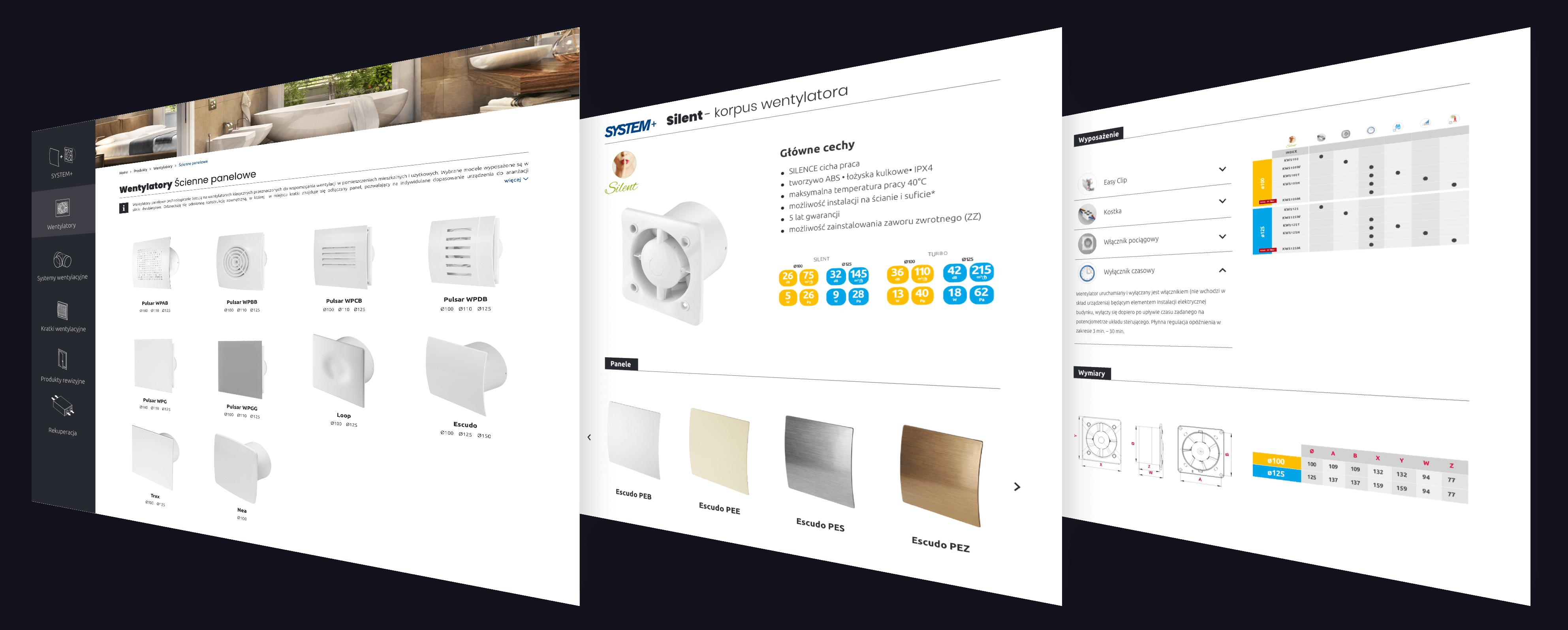 Portfolio Animativ: strony producenta elementów wentylacji Awenta