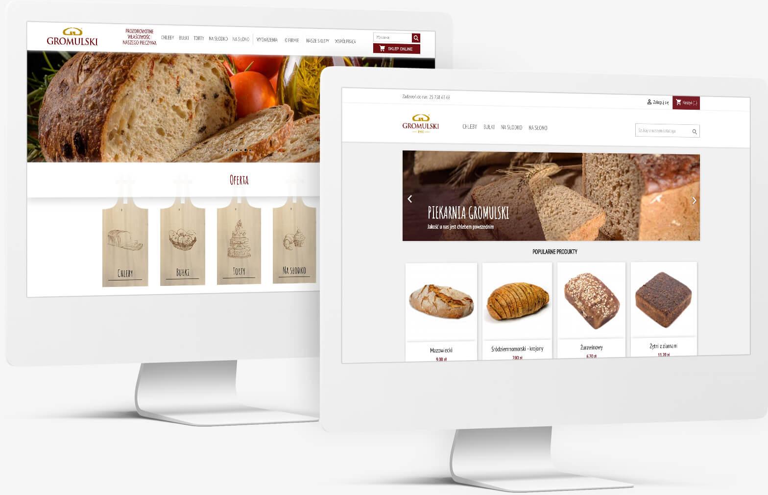 Portfolio Animativ: witryna i sklep internetowy dla Piekarni Gromulski