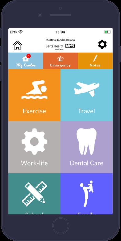 Portfolio Animativ: aplikacja dla osób chorujących na hemofilię My Haemophilia Centre