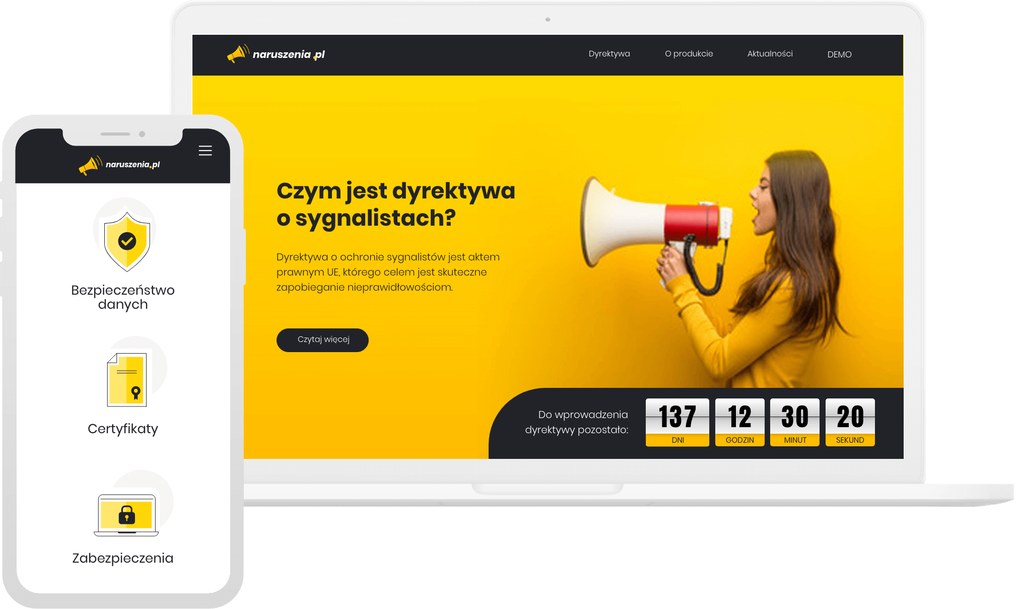 Portfolio Animativ - aplikacja dla sygnalistów zglosNaruszenie.pl